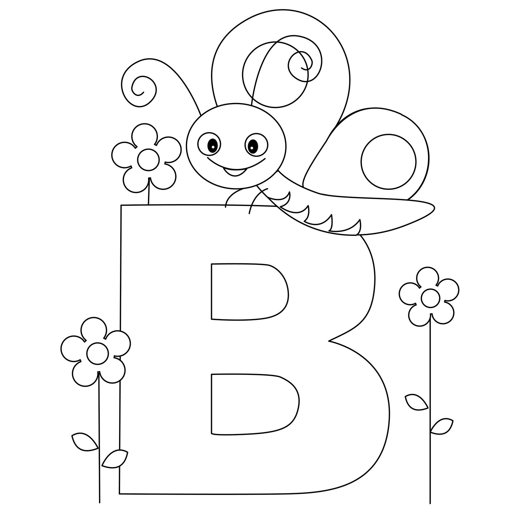 Coloring Pages : Free Printable Alphabet Coloring Pages For Kids - Free Printable Preschool Alphabet Coloring Pages