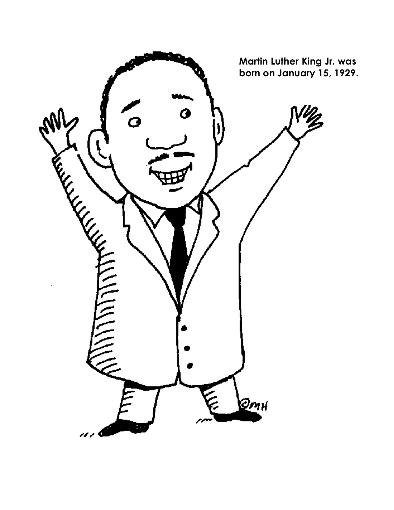 Coloring Pages : Free Printable Colorings For Martin Luther King Jr - Martin Luther King Free Printable Coloring Pages