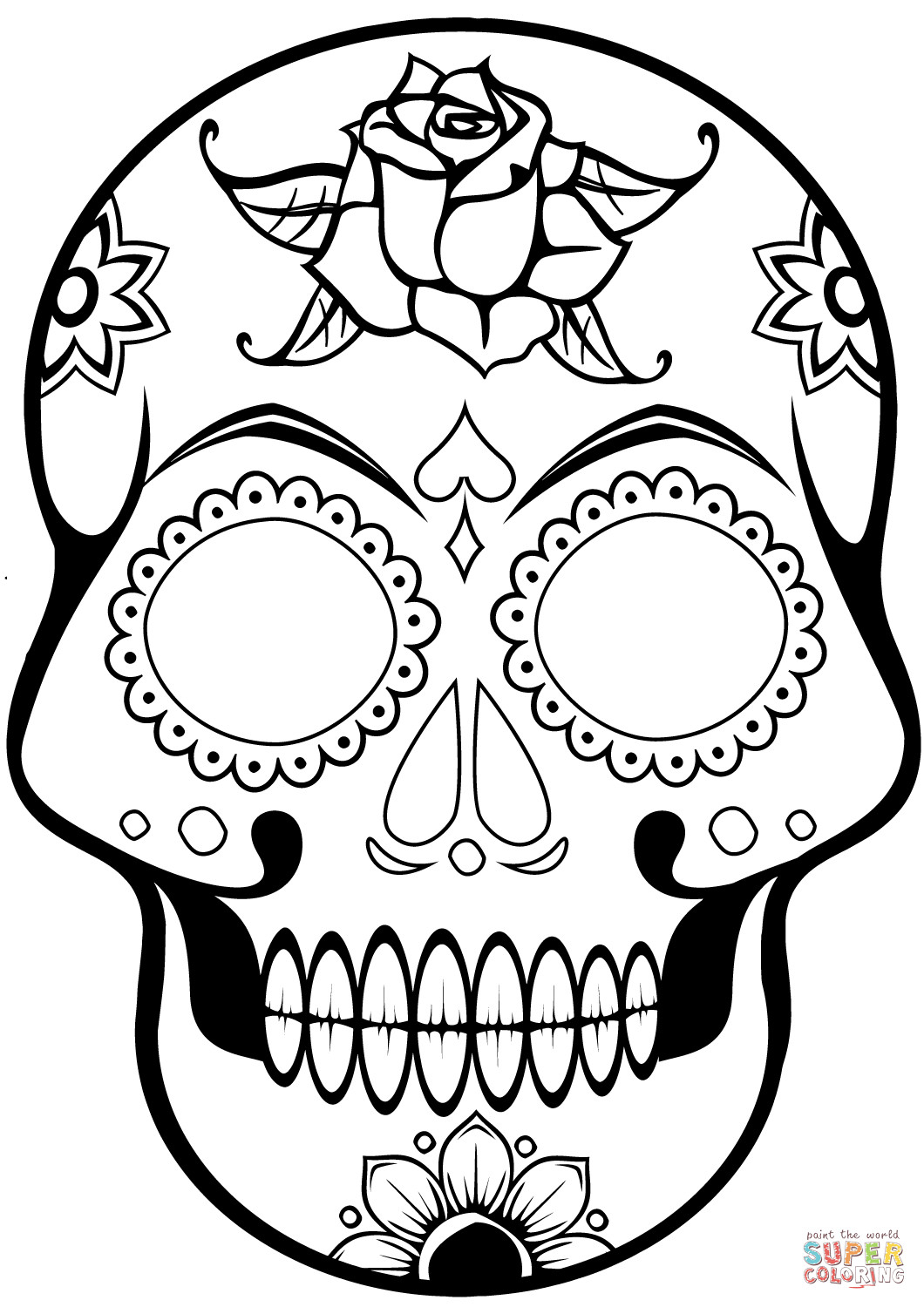 Coloring Pages : Free Printable Sugar Skulling Pages For Kids Sugar - Free Printable Sugar Skull Coloring Pages