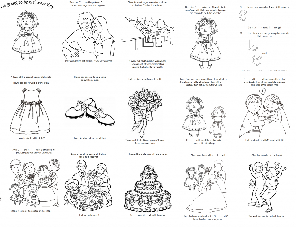 Coloring Pages ~ Free Printable Wedding Coloring Book Pages With - Wedding Coloring Book Free Printable