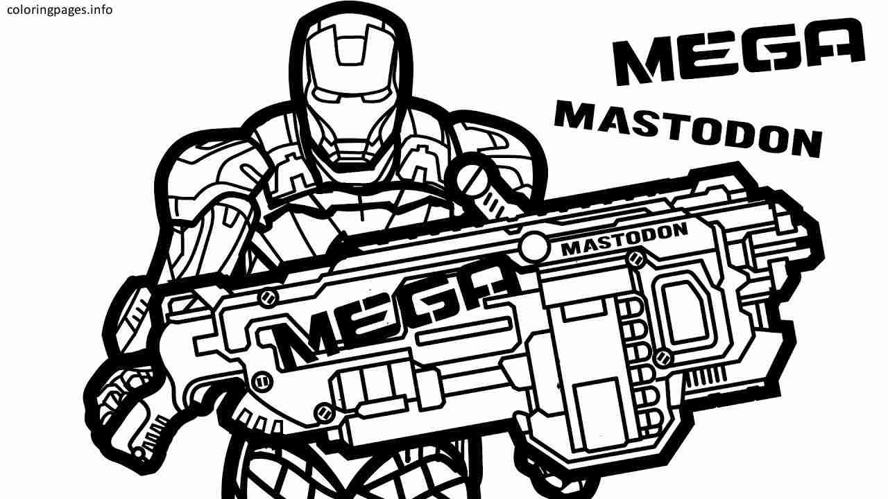 Coloring Pages ~ Gun Coloring Pages Download And Print For Free Nerf - Free Printable Nerf Logo