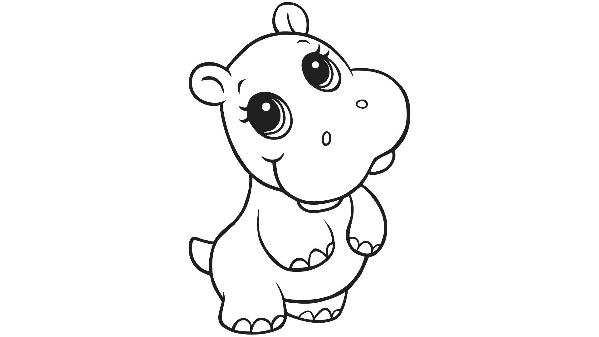 Coloring Pages Hippo #47256 - Free Printable Hippo Coloring Pages