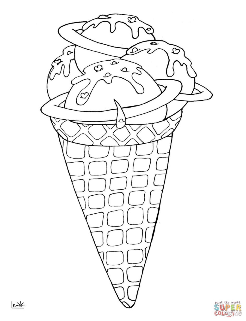 Coloring Pages ~ Ice Cream Cone Coloring Pages For Adults Kids - Ice Cream Cone Template Free Printable