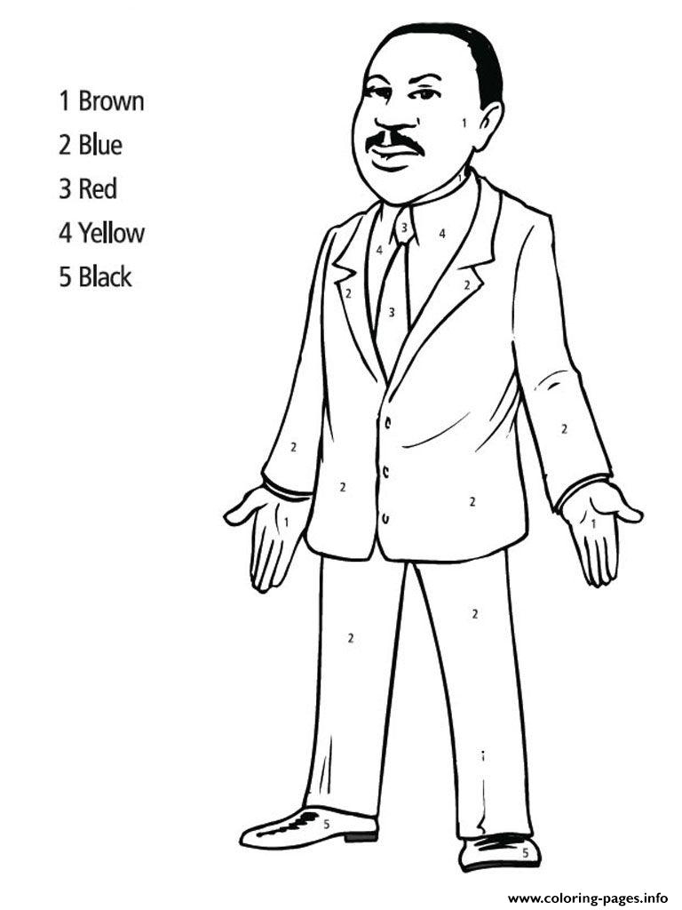 Coloring Pages ~ Martin Luther King Coloringges Printable Day Color - Martin Luther King Free Printable Coloring Pages