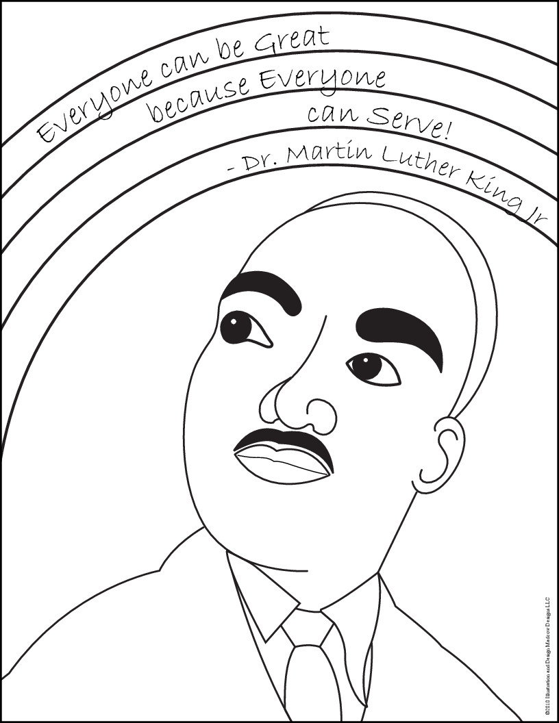 Coloring Pages : Martin Luther King Jr Day Coloring_King Penguin - Martin Luther King Free Printable Coloring Pages