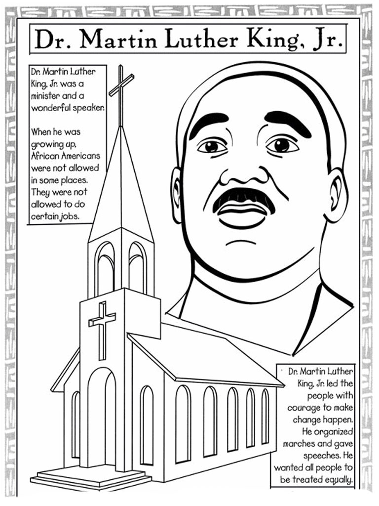 Coloring Pages : Martin Luther King Worksheets Jroring Pages - Free Printable Martin Luther King Jr Worksheets