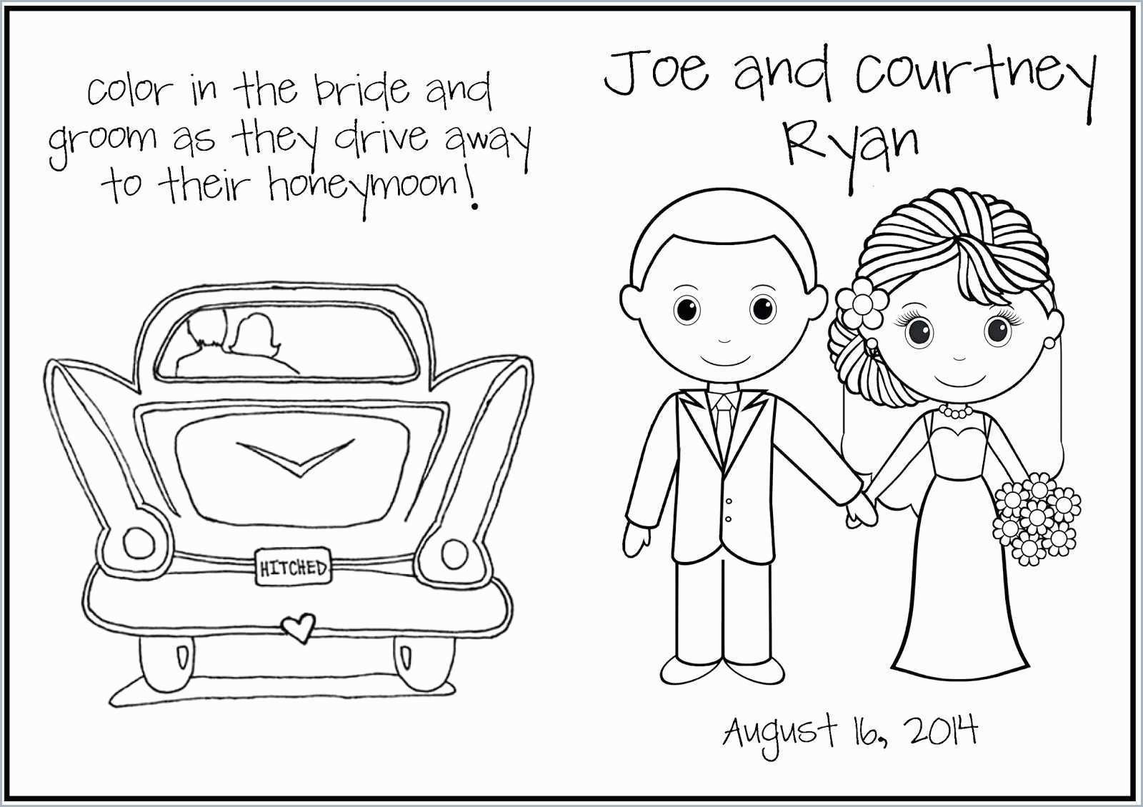 Coloring Pages : Marvelous Free Wedding Coloring Book Image - Wedding Coloring Book Free Printable