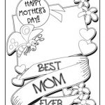 Coloring Pages ~ Mothers Day Coloring Pages Printable Cards Free   Free Printable Mothers Day Coloring Cards