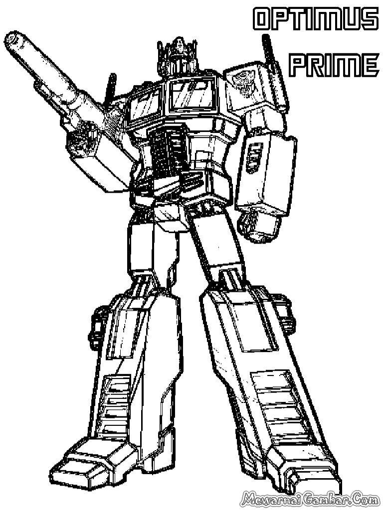 Coloring Pages Of Optimus Prime | Optimus Prime Transformer Coloring - Transformers 4 Coloring Pages Free Printable