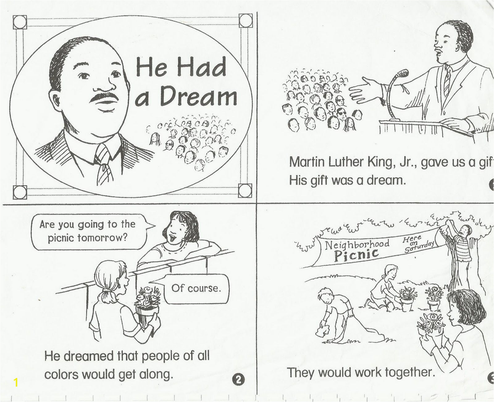 Coloring Pages : Remarkable Martin Luther Kingng Pages Free Jr For - Free Printable Martin Luther King Jr Worksheets