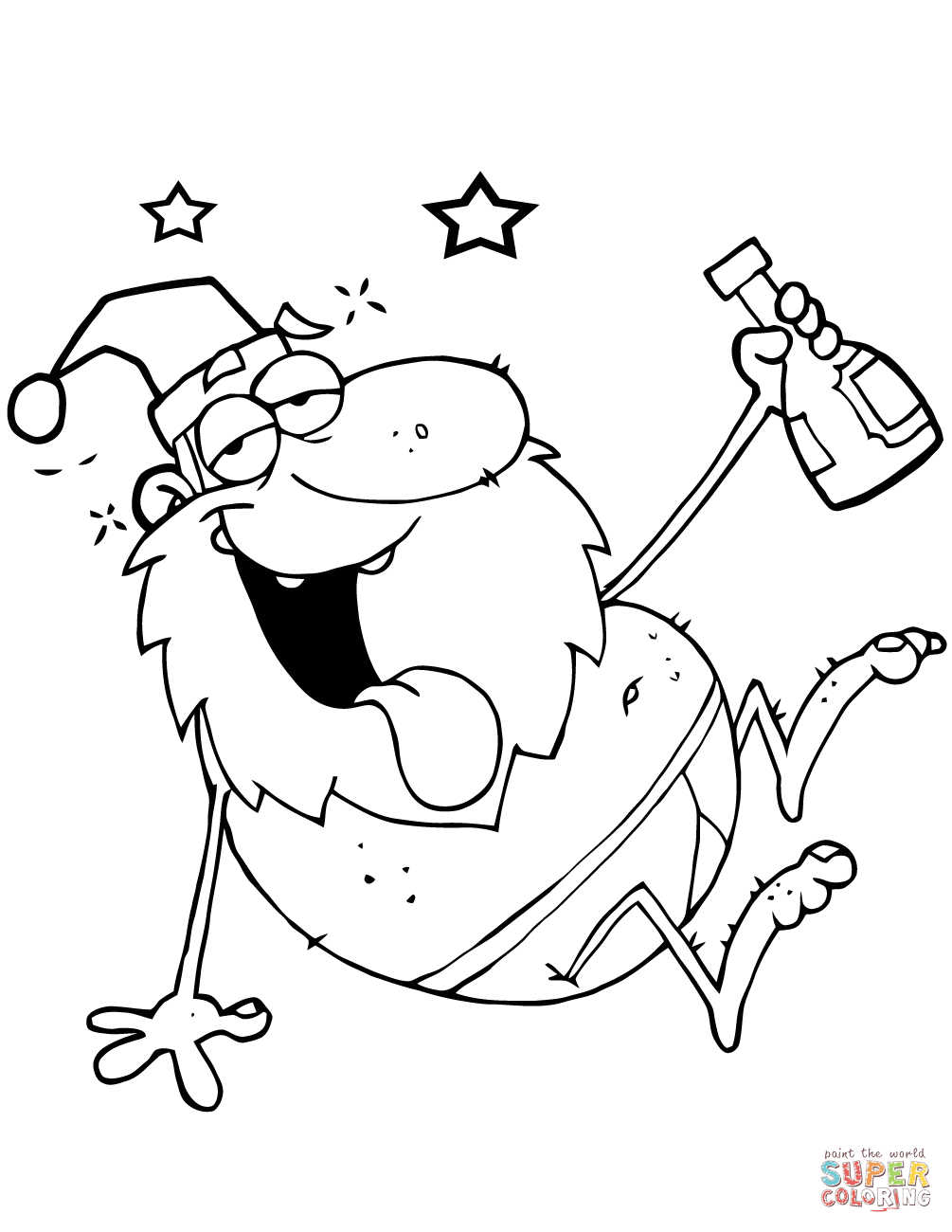 Coloring Pages ~ Santa Coloring Pages Printable Free Claus Page - Santa Coloring Pages Printable Free
