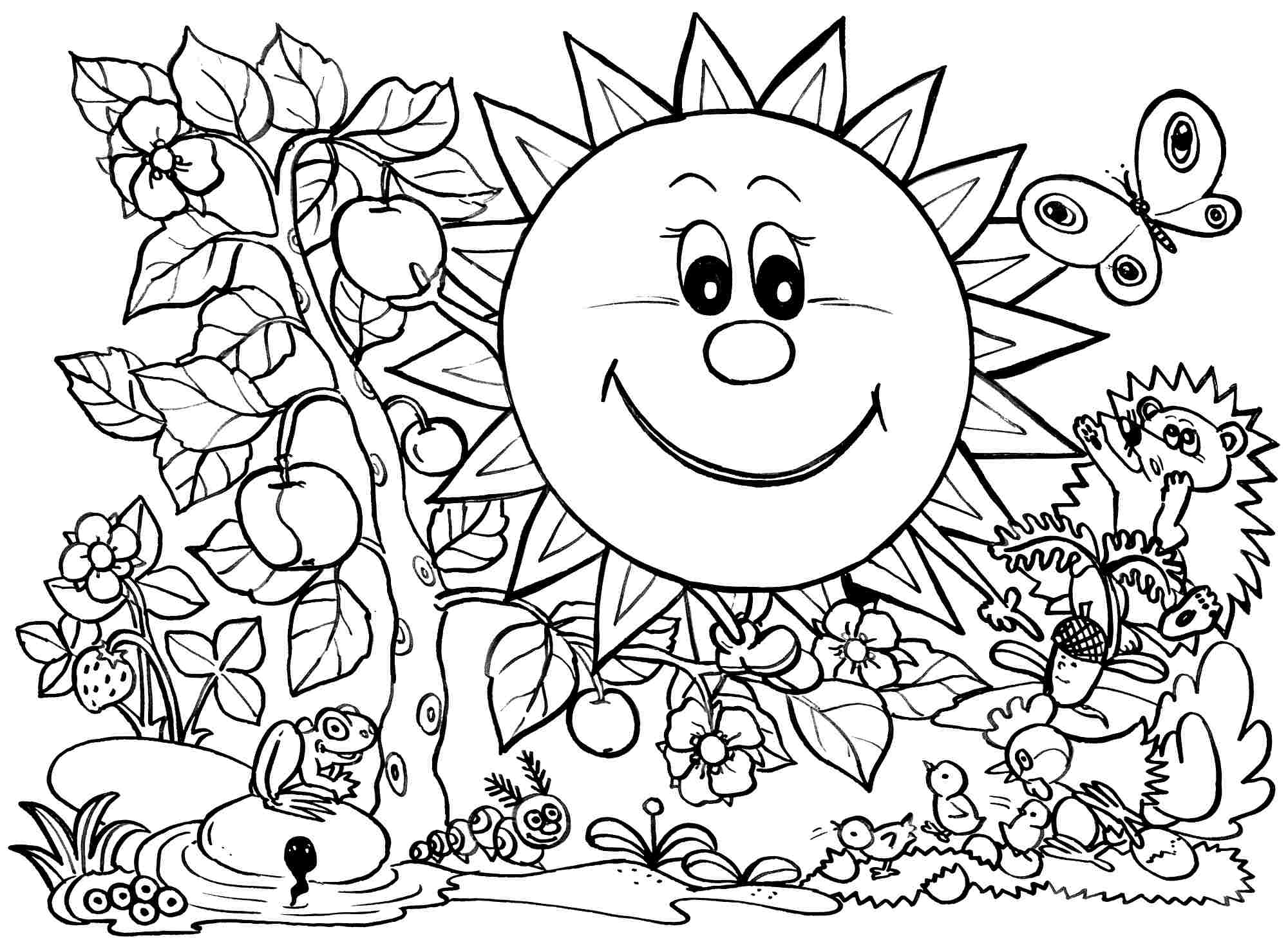 Coloring Pages : Spring Coloring Pages For Preschoolers Free Kids - Spring Coloring Sheets Free Printable