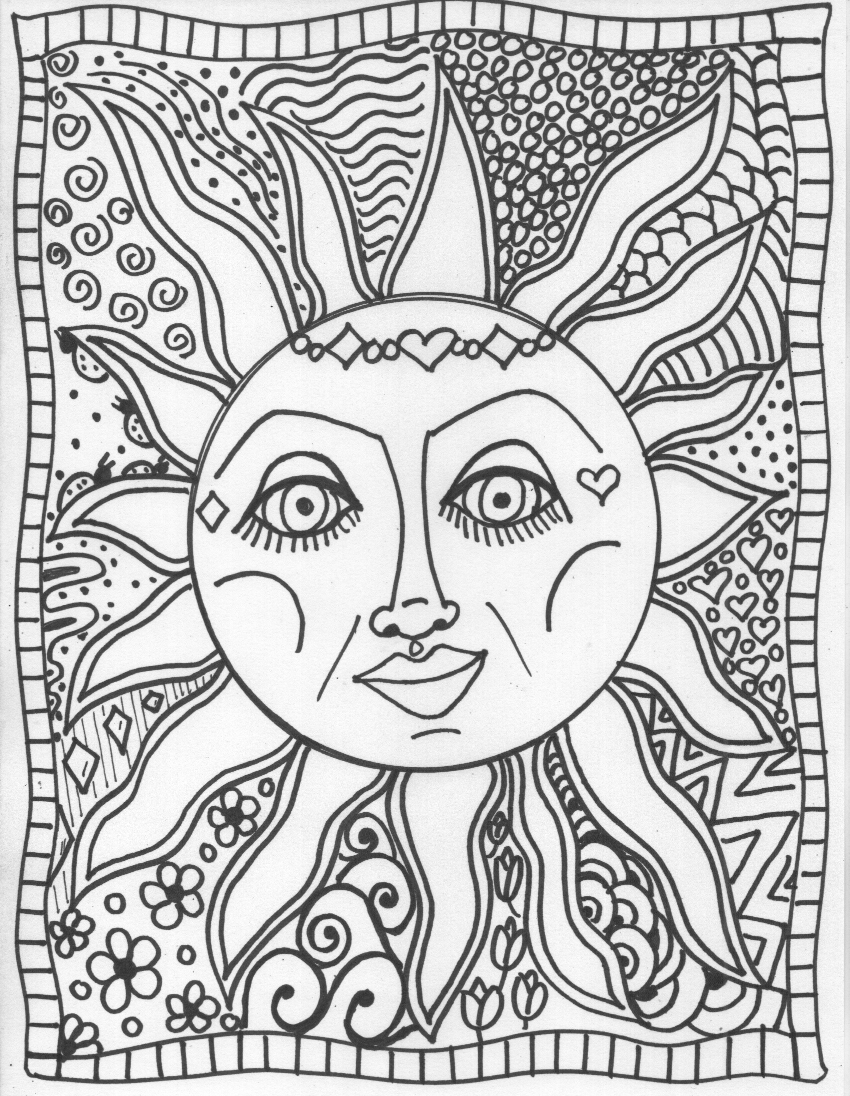 Coloring Pages : Trippy Coloring Pages Sun Coloringstar Adult For - Free Printable Trippy Coloring Pages