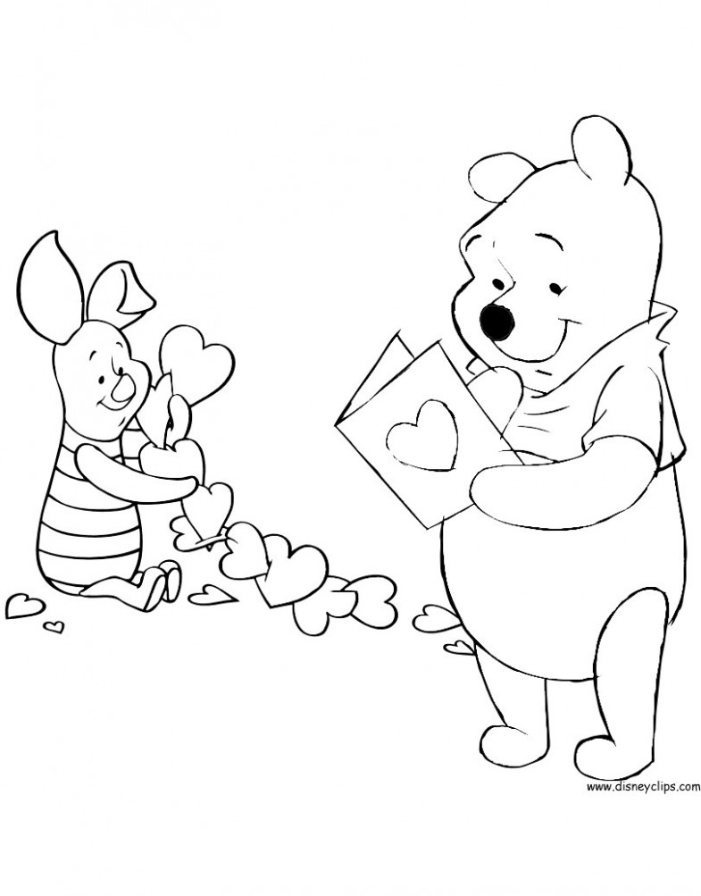 Coloring Pages : Valentine Coloringets Free Picture Inspirations For - Free Printable Disney Valentine Coloring Pages