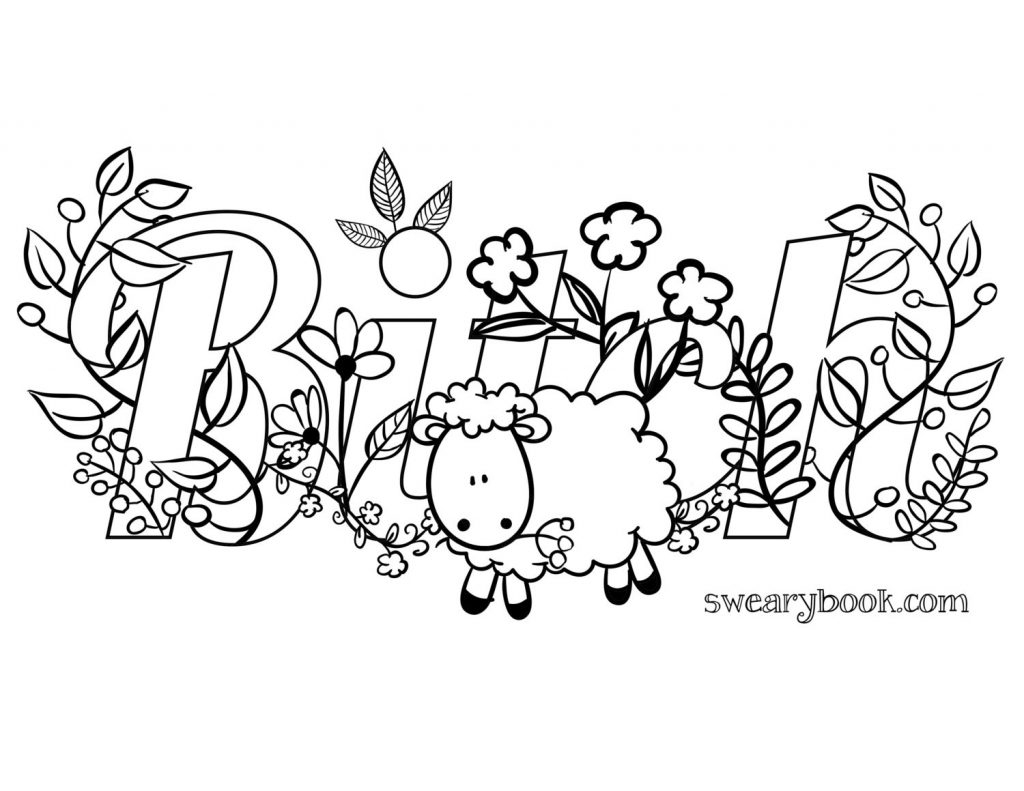 Coloring Pages ~ Word Coloring Pages Printable At Getcolorings Com - Swear Word Coloring Pages Printable Free