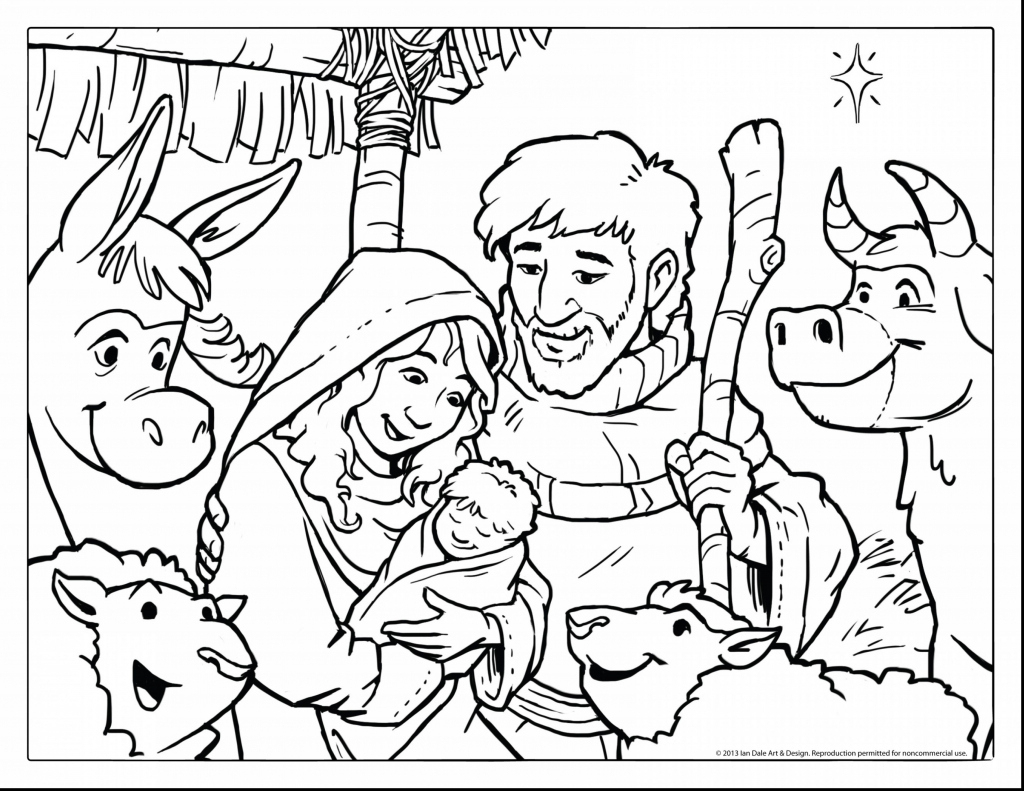 Coloring Picture Of Baby Jesus Baby In A Manger Coloring Pages - Free Printable Christmas Baby Jesus Coloring Pages