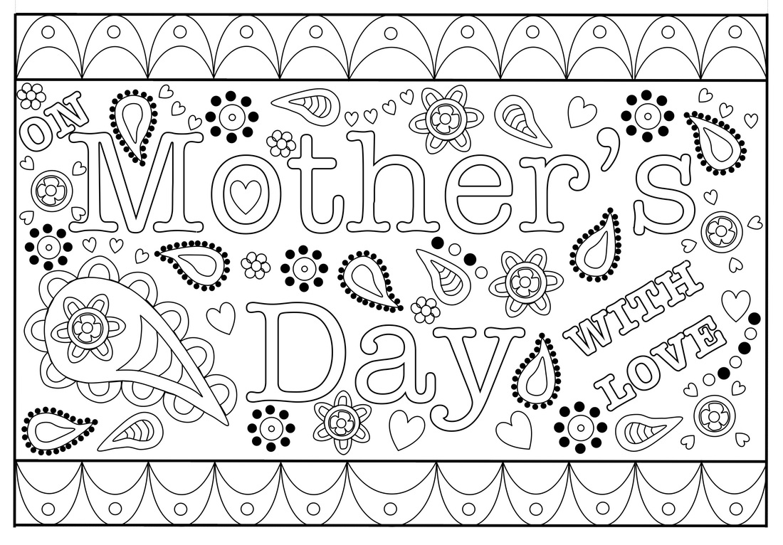 Colouring Mothers Day Card Free Printable Template - Free Printable Mothers Day Card From Dog
