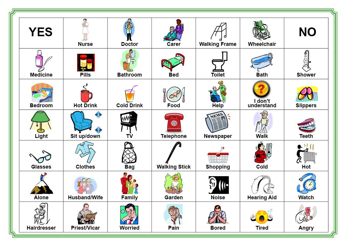 Communication Board For Stroke Victim | Communication Board Our - Free Printable Picture Communication Symbols