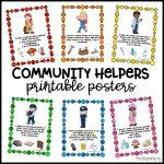 Community Helpers Printable Posters   Teaching Mama   Free Printable Posters For Teachers
