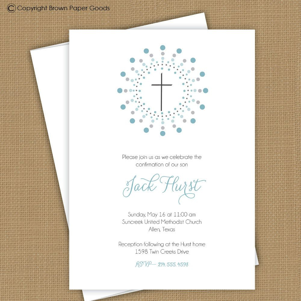 Confirmation Invitation Template | Confirmation Template - Free Printable First Communion Invitation Templates