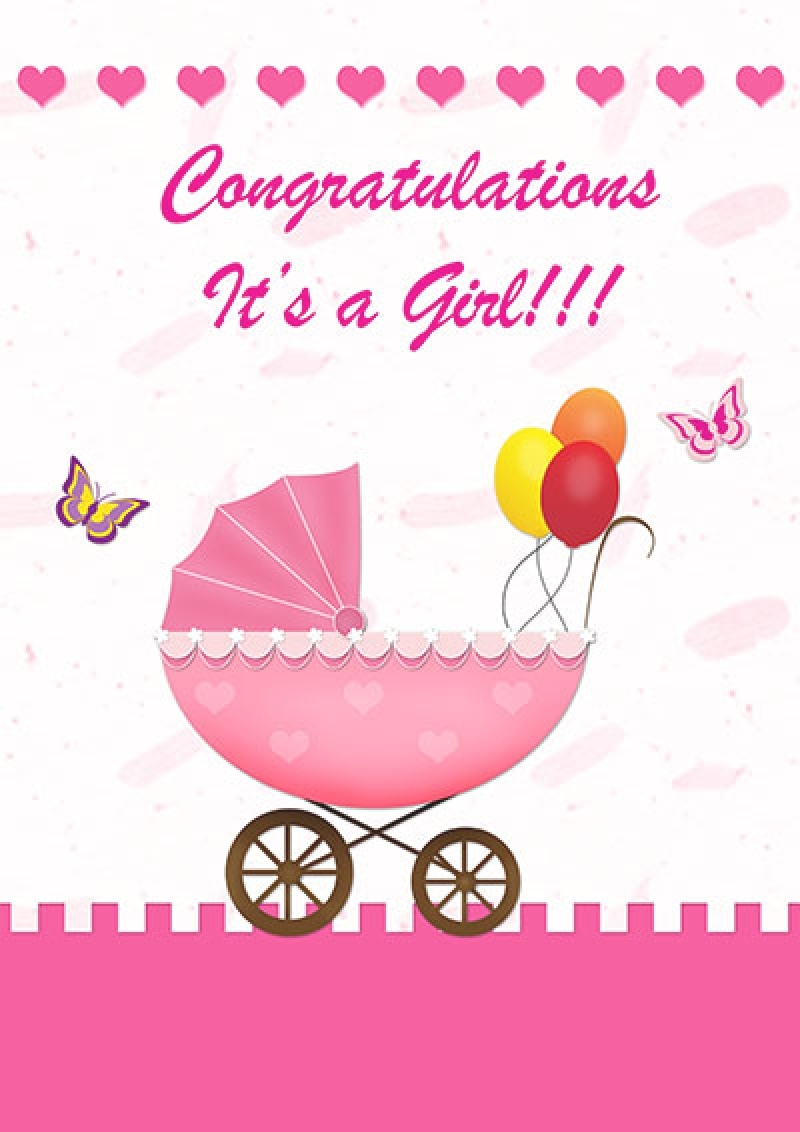 Congratulations Card Stock Vector. Illustration Of Frame 30842547 - Congratulations On Your Baby Girl Free Printable Cards