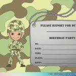 Cool Best Free Printable Boys Birthday Invitations Idea | Invitation   Free Printable Camouflage Invitations