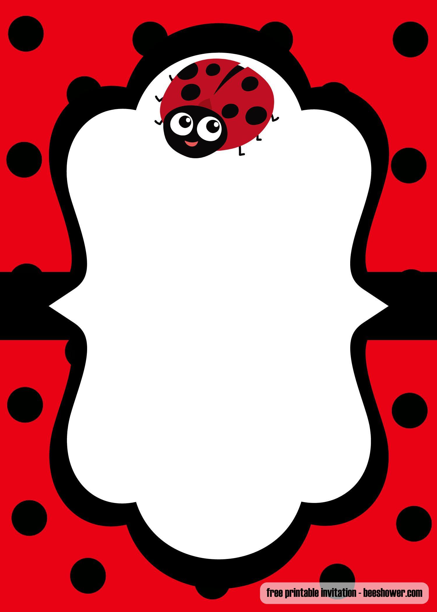 Cool Free Printable Ladybug Baby Shower Invitations Templates - Free Printable Ladybug Baby Shower Invitations Templates