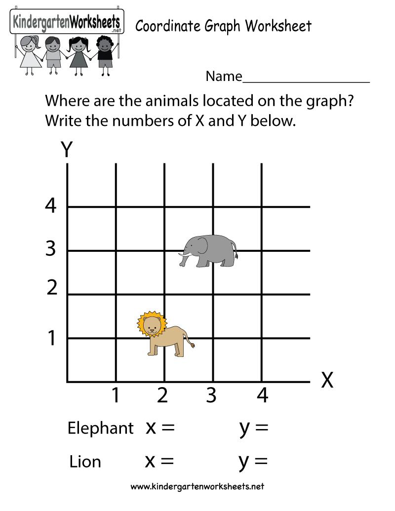 Coordinate Graph Worksheet - Free Kindergarten Math Worksheet For Kids - Free Printable Coordinate Graphing Pictures Worksheets