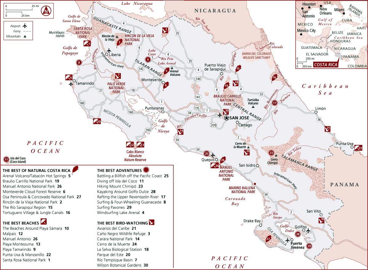 Costa Rica Maps   Printable Maps Of Costa Rica For Download - Free Printable Map Of Costa Rica
