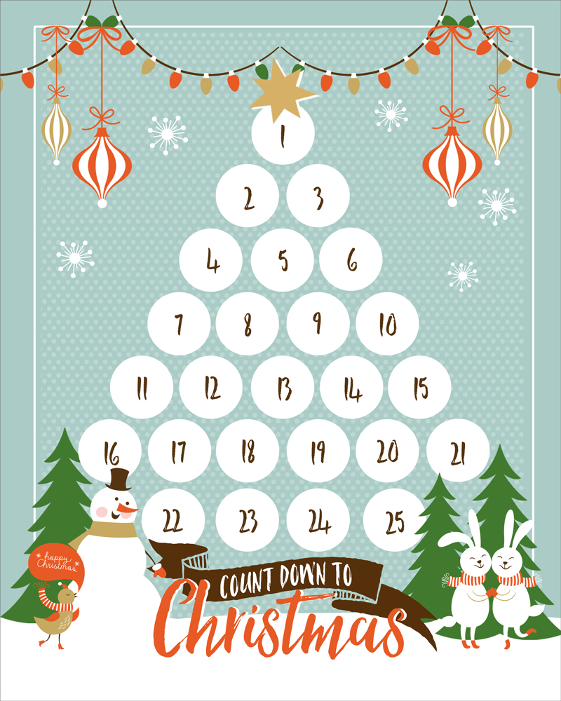 Countdown To Christmas Printable - Christmas Countdown Free Printable