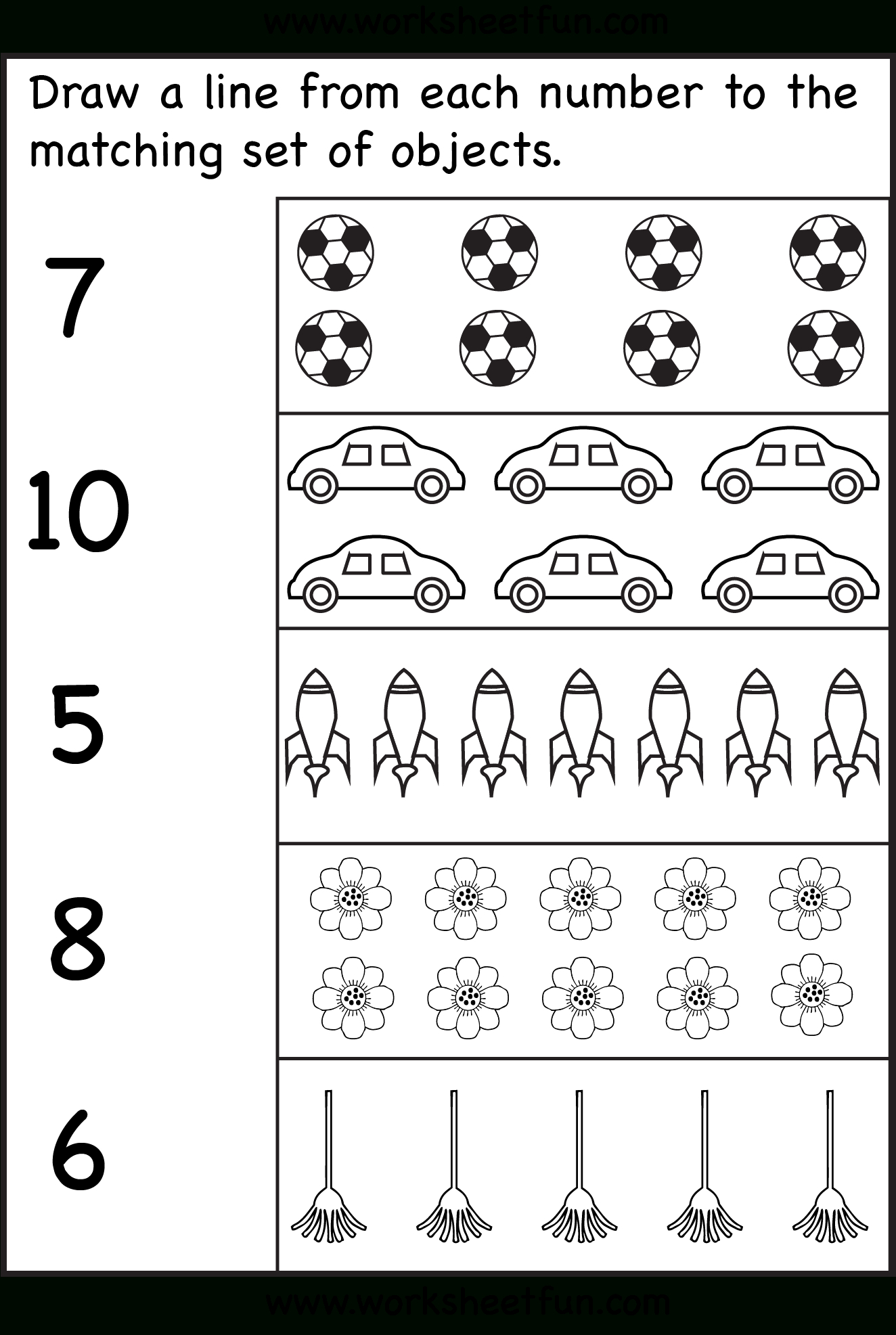 Counting – Six Worksheets / Free Printable Worksheets – Worksheetfun - Free Printable Counting Worksheets 1 10