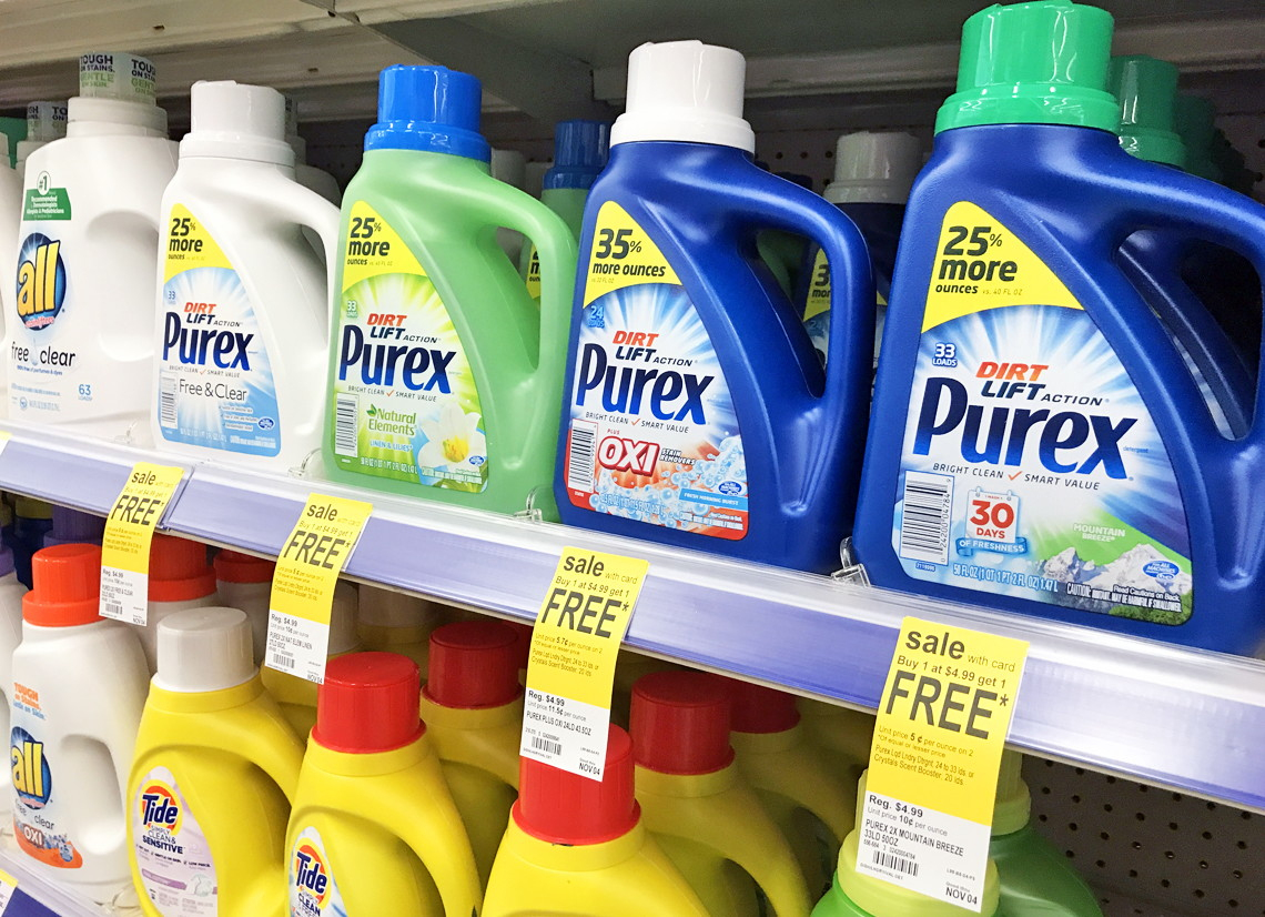 Coupon Reset! Purex Laundry Detergent, Only $2.00 At Walgreens - Free Printable Purex Detergent Coupons