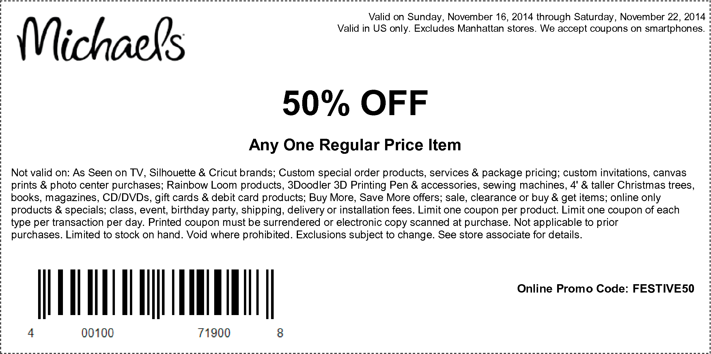 Coupons At Michaels | Cards From Others | Michaels Coupon, Coupons - Free Printable Coupons 2014