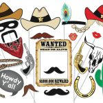 Cowboy Or Cowgirl Photo Booth Party Props Set 25 Piece | Etsy   Free Printable Western Photo Props