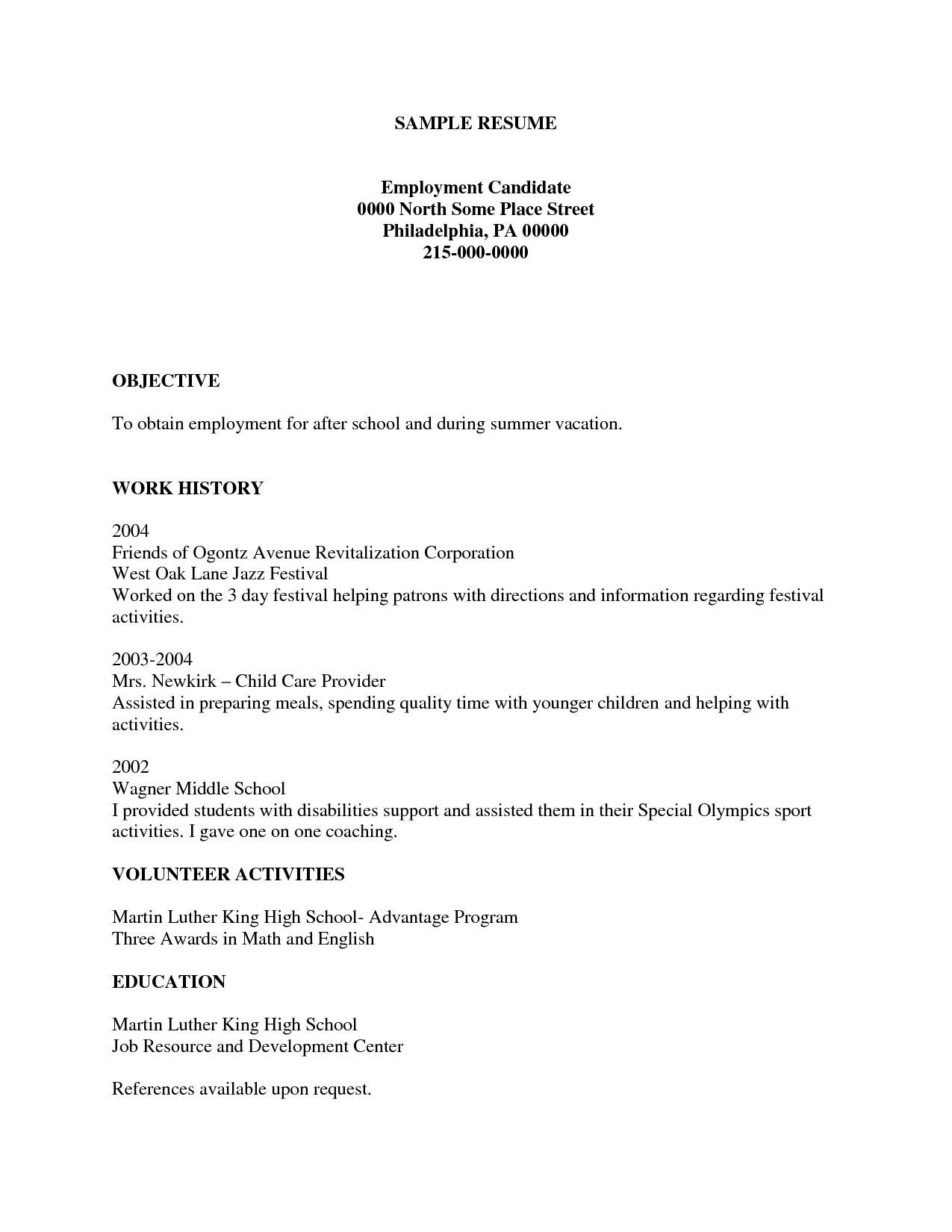 Create A Free Printable Resume | Resume Template Info - Free Printable Resume