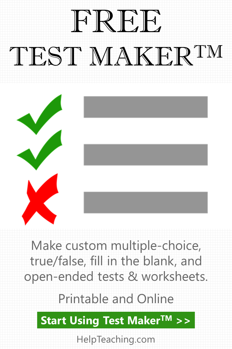 Create Tests Online With Our Free Test Maker For Teachers And - Free Printable Test Maker