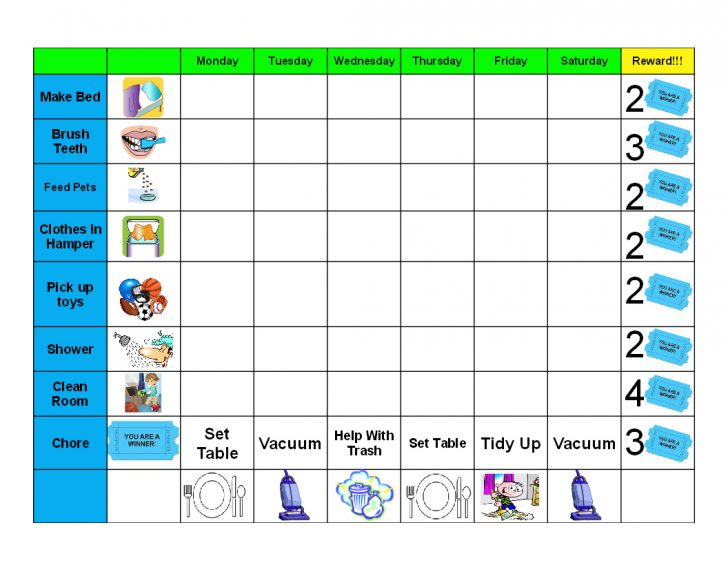 Free Printable Chore Chart Ideas