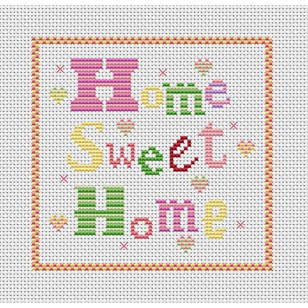Cross Stitch Patterns Free Printable | Home Sweet Home Free Chart - Free Printable Cross Stitch