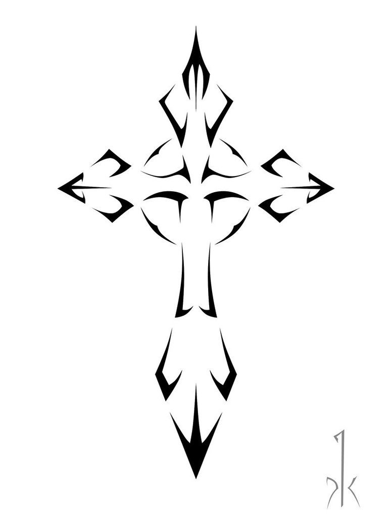 Cross Tattoo Designs For Women | Cross Tattoo Designs 13 Tribal 14 - Free Printable Cross Tattoo Designs