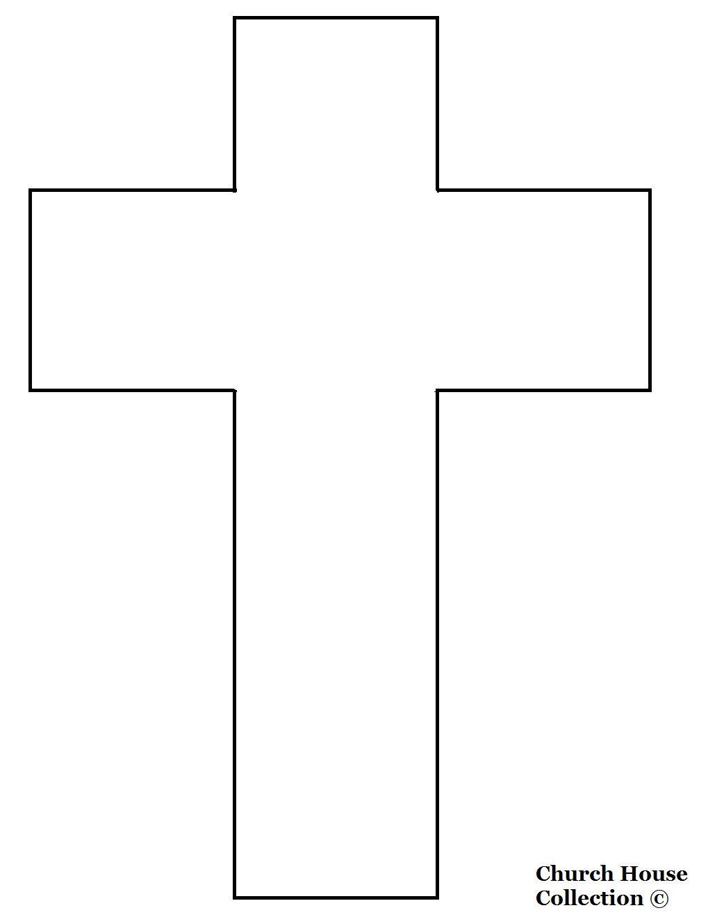 Cross Templates Printable   Cross Template- Printable Version   1St - Free Printable Cross