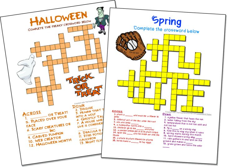 Free Online Printable Crossword Puzzles