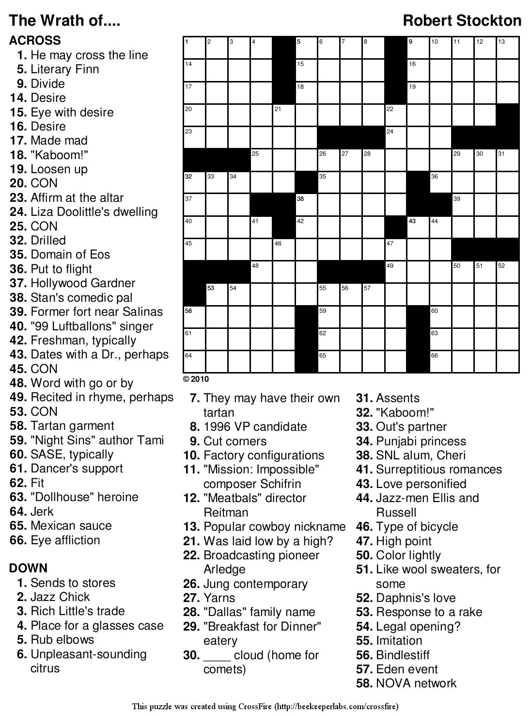 Crosswords Free Fill In Crossword Puzzle Maker ~ Themarketonholly - Free Printable Fill In Puzzles