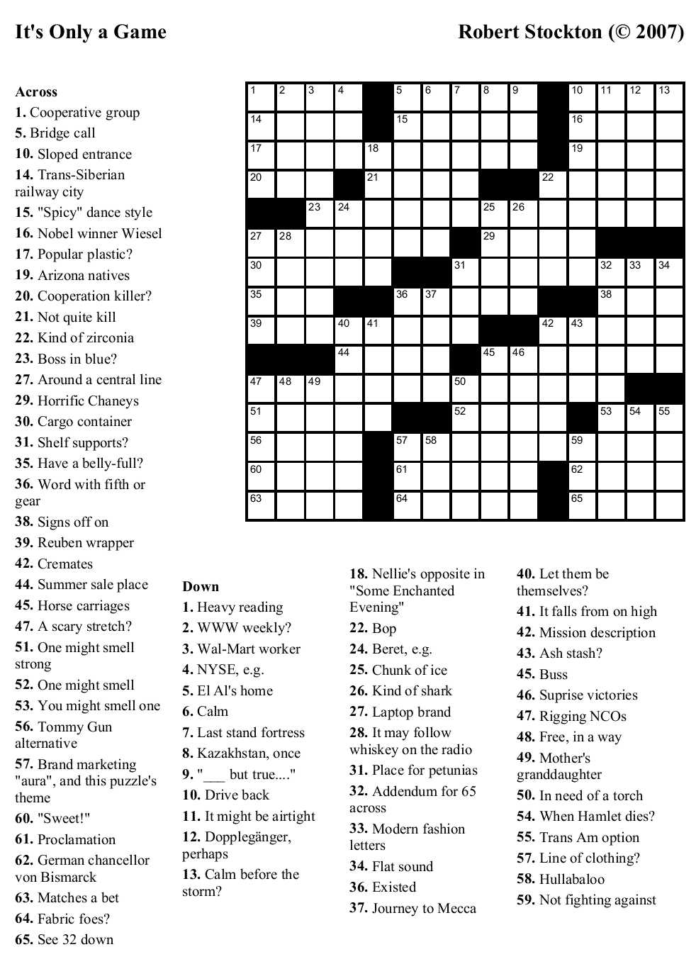 Crosswords Onlyagame Large Printable Crossword Puzzle ~ Themarketonholly - Free Printable Crossword Puzzle Maker Download