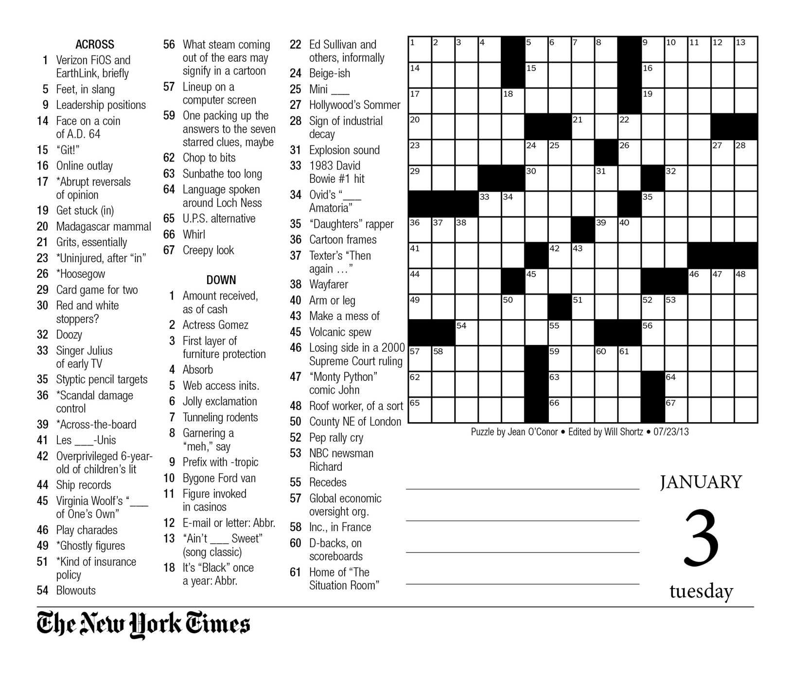 Crosswords Sunday Crossword Puzzle Printable ~ Themarketonholly - New York Times Crossword Printable Free