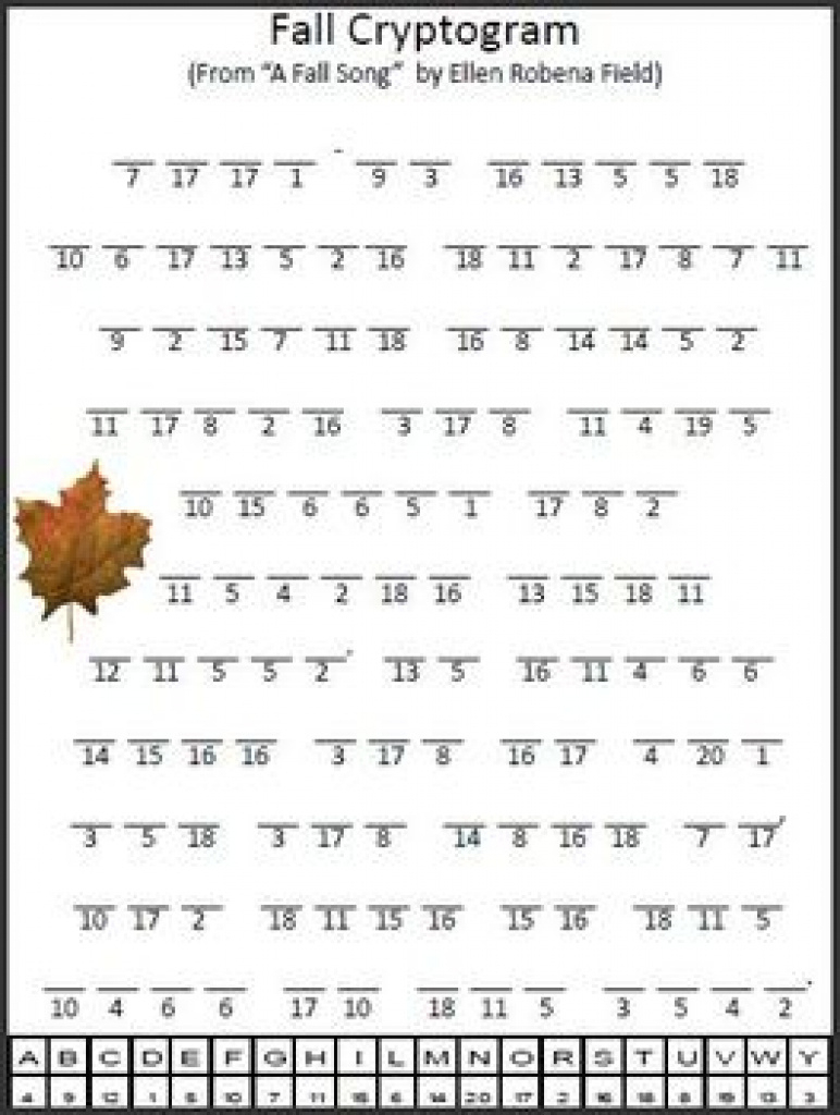 Cryptogram Teaching Resources | Teachers Pay Teachers Pertaining To - Free Printable Cryptograms