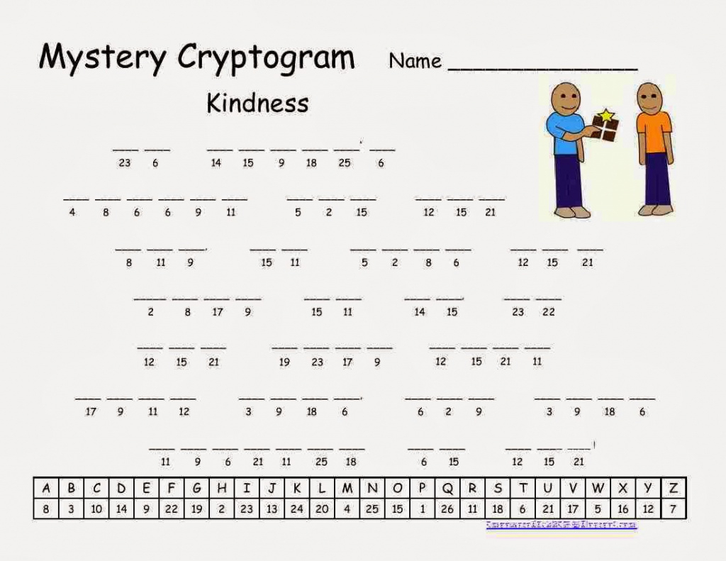 Cryptograms! | Cjrl: Kids Zone With Regard To Free Printable - Free Printable Cryptoquip Puzzles