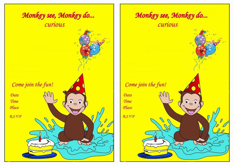 Curious George Birthday Invitations – Birthday Printable   Aiden's - Free Printable Curious George Invitations