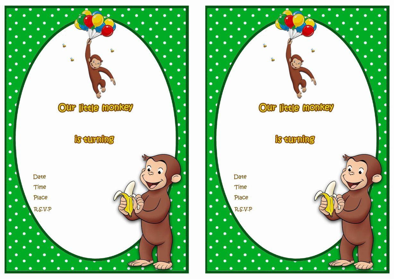 Curious George Free Printable Birthday Party Invitations   Party - Free Printable Curious George Invitations