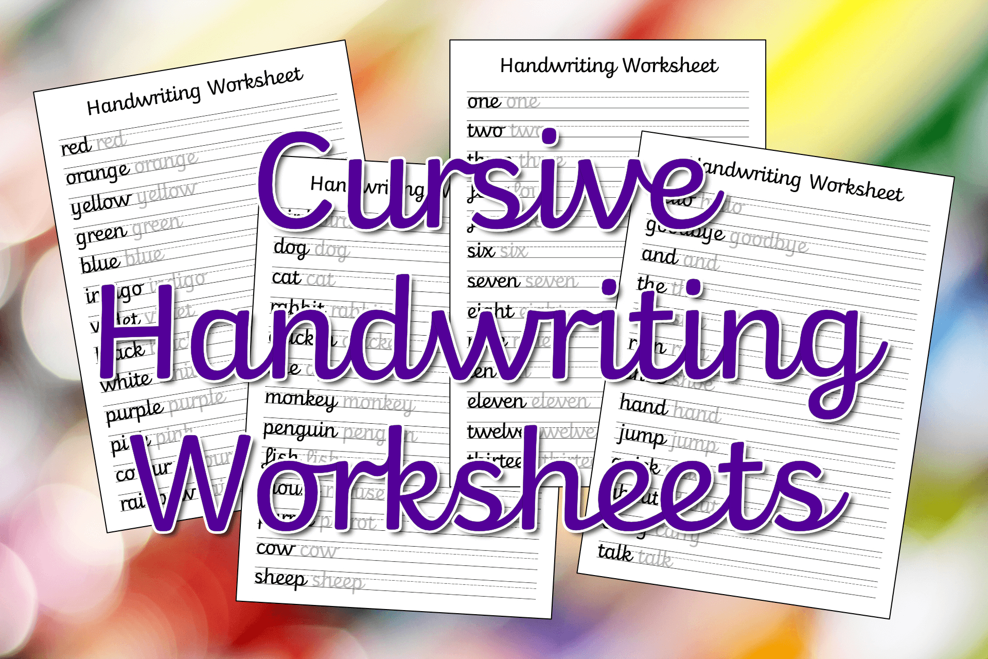 Cursive Handwriting Worksheets – Free Printable! ⋆ Mama Geek - Free Printable Worksheets Uk