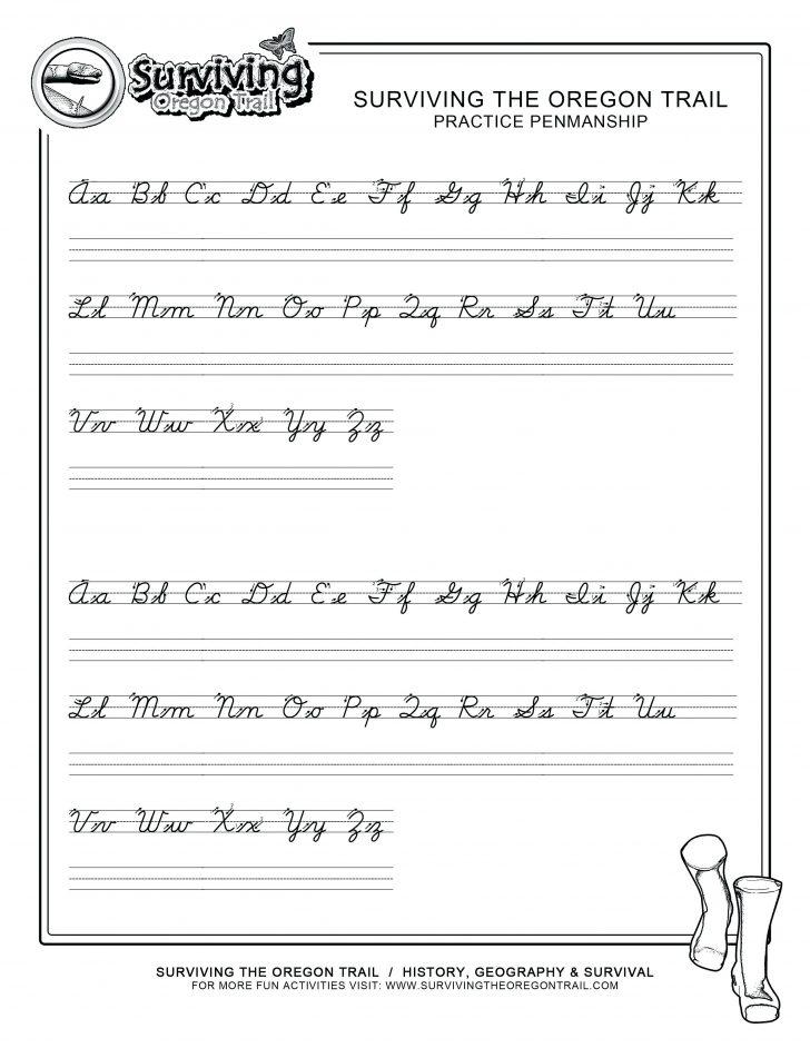 Free Printable Cursive Alphabet
